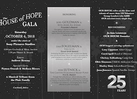 """OUR HOUSE Grief Support Center Celebrates 25 Years with the House of Hope Gala """"The Great Stories of OUR HOUSE"""""""
