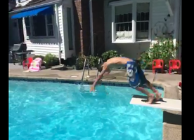4 Amazing Seconds of Magic Involving Teleportation and a Pool