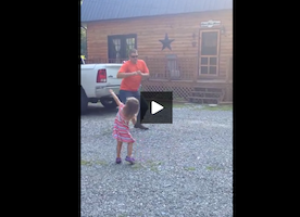 This Family Has Uncovered the Secret to Happiness. See What This Girl Does Every Time Her Dad Returns From Work.