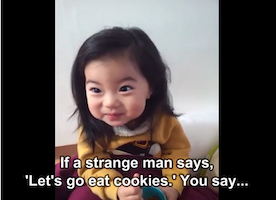 Mom Tries to Teach Adorable Girl Life Lesson
