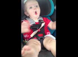 "We Guarantee This Adorable Baby Girl Likes Katy Perry More Than You Do! Watch How She Freaks Out When ""Dark Horse"" Comes On the Radio."