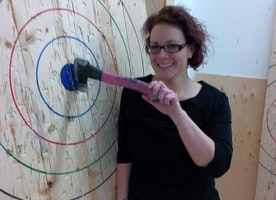 Backyard Axe Throwing in Pickering Gets Creative