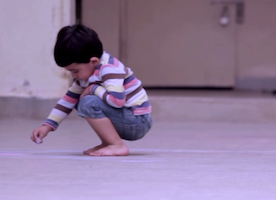 This Little Boy Drew Something On The Floor. And When I Realized What It Was, It Left Me Speechless.