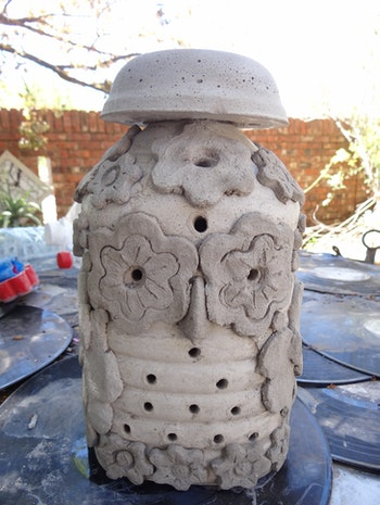 Concrete Garden Owl Lamp Part 1