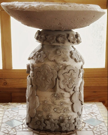 Concrete Garden Owl Lamp Part 2