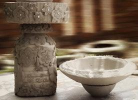 Concrete Garden Owl Lamp Part  3