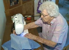 This 99-Year-Old Woman Sews 1 Dress Per Day For Girls In Need