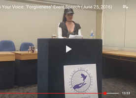 "Reclaim Your Voice: ""Forgiveness"" Event Speech For Abuse Survivors"