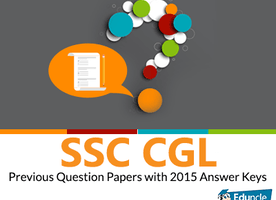 SSC CGL Previous Question Papers with 2015 Answer Keys