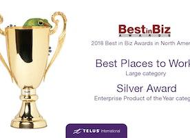TELUS International wins silver   Best in Biz Awards