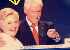 This is BY FAR the Funniest/Cutest GIF of #HillaryClinton Reacting to Balloons at the #DNC.