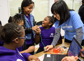 Accenture and Girls Who Code: Closing the Technology Gender Gap