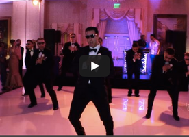 Groomsmen Surprise Wife With Stellar Dance Routine