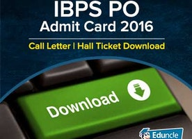 IBPS PO Admit Card 2016 | Call Letter | Hall Ticket Download