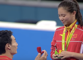 NOTHING Can Top A Proposal Like This: Watch #Olympic Diver Get Proposed to while Receiving Silver Medal
