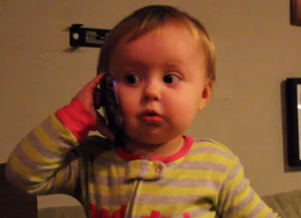 Baby Talks To Dad On Phone And Has A Lot To Tell Him
