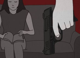 """My boyfriend insisted a gun would keep us """"safer"""" up until the day he shot me in the face"""