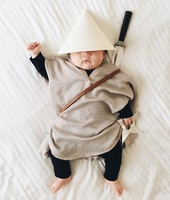 This Napping Baby Becomes the Best Dress Up Doll