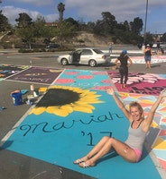 High School Seniors Turn Campus Concrete into Works of Art
