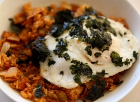 Kimchi Fried Rice and Edamame, Carrot & Bacon Fried Rice By Jen Oliak
