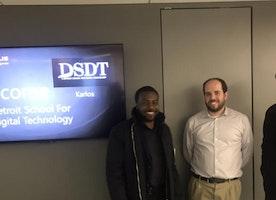 Great meeting with Karlos Harris of Detroit School of Digital Technology
