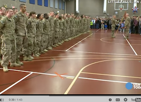 Military Mom Breaks Formation When Son Jumps Into Her Arms SEPTEMBER 17, 2014