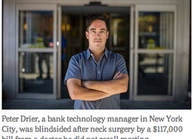Surprise Bills COMMENTS  After Surgery, Surprise $117,000 Medical Bill From Doctor He Didn't Know