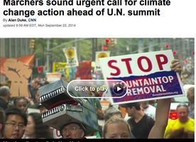 Marchers sound urgent call for climate change action ahead of U.N. summit