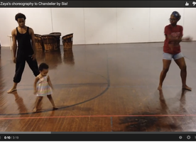 "This Adorable Baby Girl Dances To Sia's ""Chandelier""."
