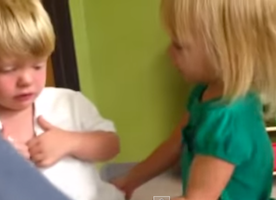 These 2 Girls Arguing With This Little Boy About The Weather Will Make You Melt. Too Adorable!