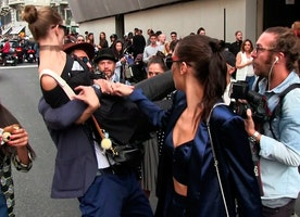 Contrary to popular belief, Gigi Hadid reacted appropriately to being manhandled by a stranger.