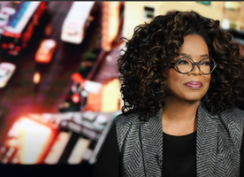 """Oprah Winfrey Hosts """"Oprah's Super Soul Conversations"""" from Times Square In New York"""