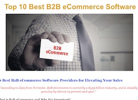 'Top 10 Best B2B eCommerce Software' by Jeff Allen | Readymag