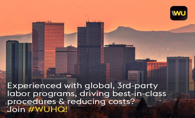 Senior Manager, Global Contingent Workforce at #WUHQ in Denver