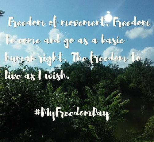 #MyFreedomDay
