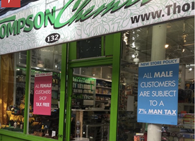 Men's Rights Activists Enraged By a Pharmacy Advertising a 'Man Tax'
