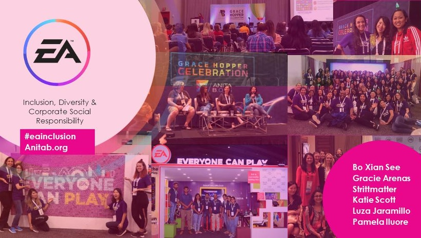 EA's  Inclusion, Diversity & Corporate Social Responsibility Grace Hopper Recap