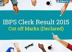 IBPS Clerk Result 2015 | Prelims & Mains Cut off Marks (Declared)