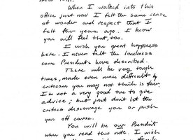 This 1993 Letter From Bush to Clinton is the Best Reminder of What it Means to be President