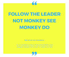 Want to build a successful business? Follow the Leader not Monkey See Monkey Do!