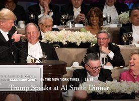 Donald Trump and Hillary Clinton Speech At The Alfred E Smith Memorial Dinner