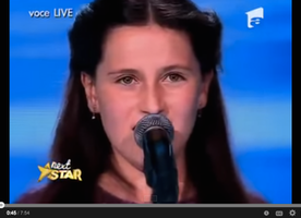All judges are shocked! amazing voice! Teodora Sava.
