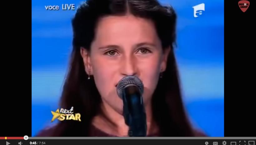 All judges are shocked! amazing voice! Teodora Sava.