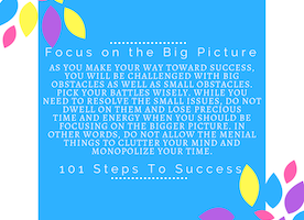 Focus on the Big Picture