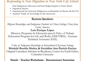 11/3/16-11/4/16 - Contributions of Indigenous Knowledge to Education: Responding to New Migration in New York City Schools