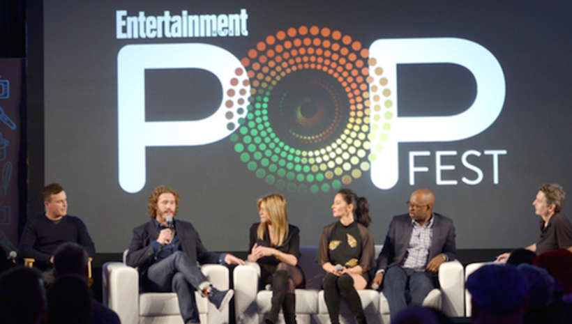 This Weekend, Jennifer Aniston and the Cast & Filmmakers of Office Christmas Party Stopped by EW PopFest