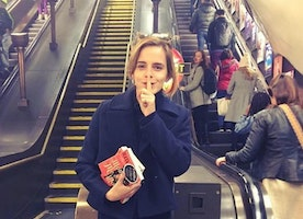 Emma Watson has been hiding feminist books on the tube