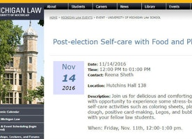 UMich law school scrubs post-Trump Play-Doh and coloring event from website - The College Fix