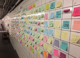People Are Posting Messages in a New York Subway Underpass as a Form of Post-Election Therapy