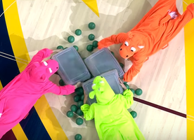 If you need to laugh, just watch this real-life game of 'Hungry Hungry Hippos'